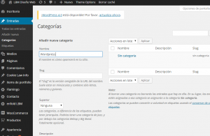 Crear Categoria en WordPress
